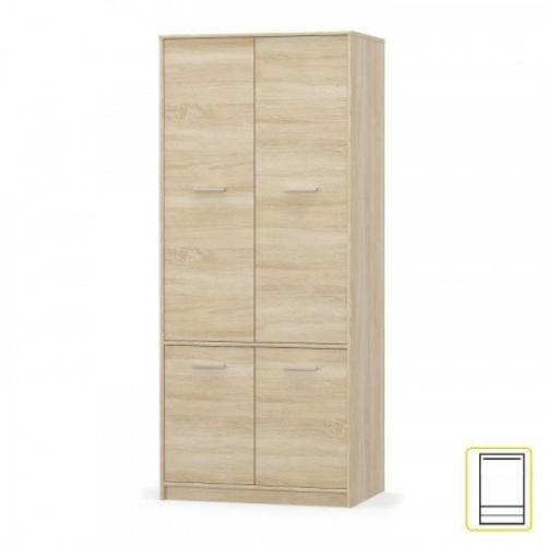 4- dveřová věšáková skříň, dub sonoma, TEYO, Tempo Kondela