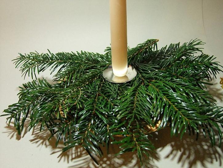 Návod na rychlý a jednoduchý vánoční svícen