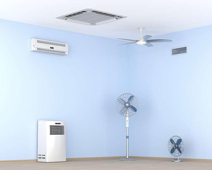Klimatizace, stropní chlazení nebo ventilátor?