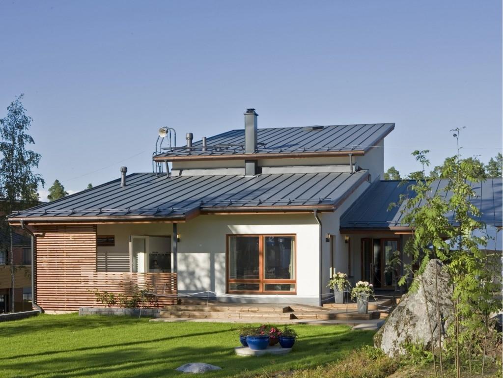 Ocelové okapy Ruukki ladí se střechou a mají severskou výdrž