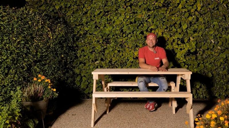 Multifunkční i estetická lavice a stůl v jednom