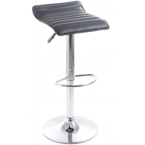 G21 Barová židle Fatea koženková, prošívaná černá