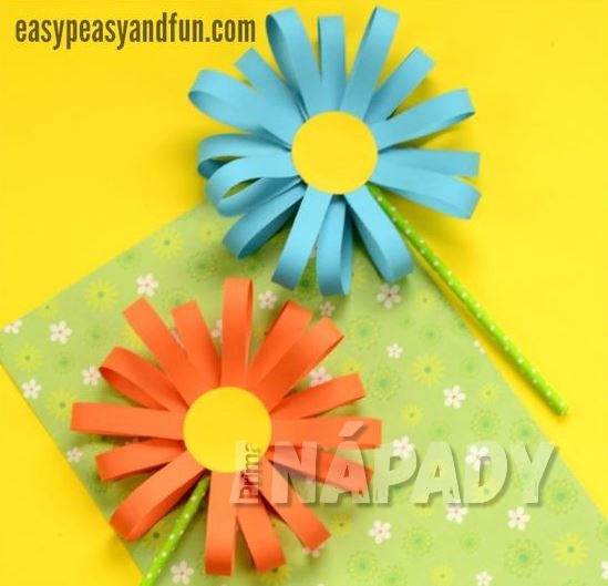 Jak vyrobit dárek pro maminku z proužků papíru 2