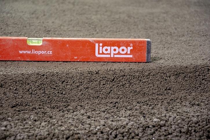 Dokonalá rovinatost a jemná struktura na povrchu - Liapor Mix Final