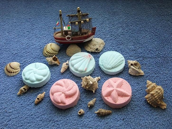Výroba šumivých mořských útvarů do koupele