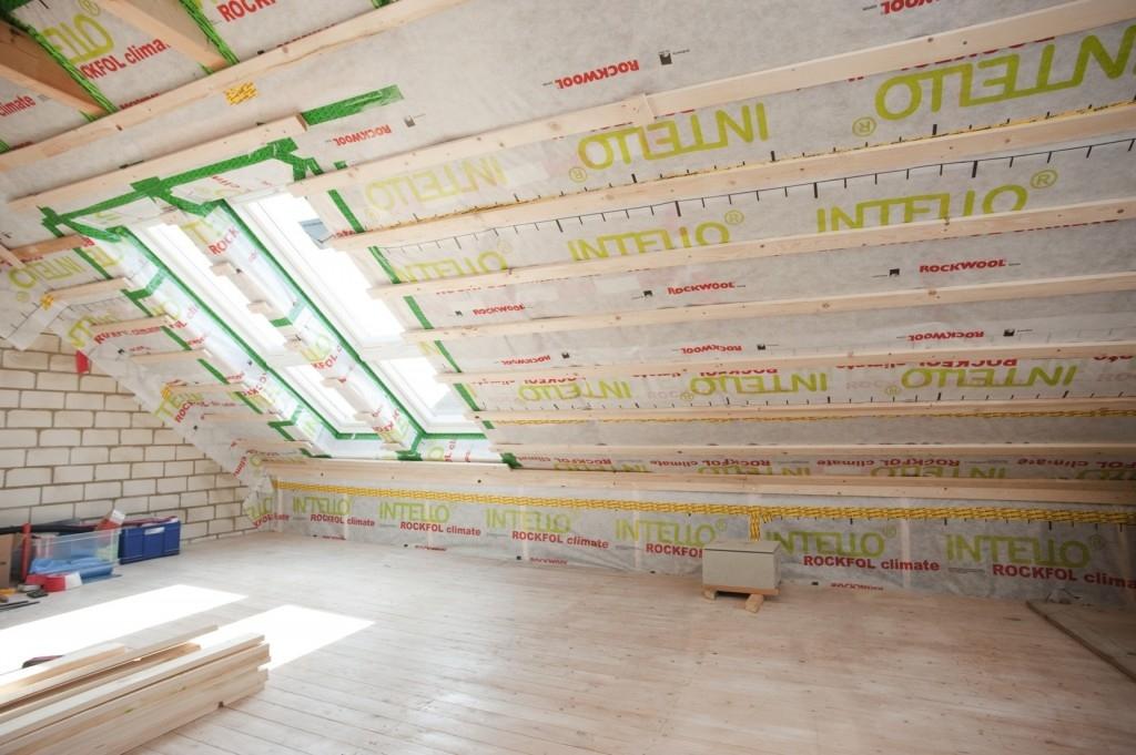 Výstavba podkroví s dřevěnou spodní konstrukcí s deskami fermacell greenline