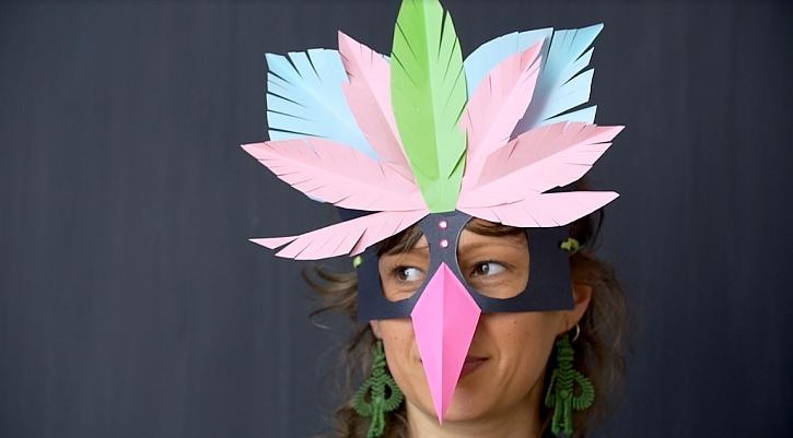 Maska pro děti na závěrečný prázdninový karneval