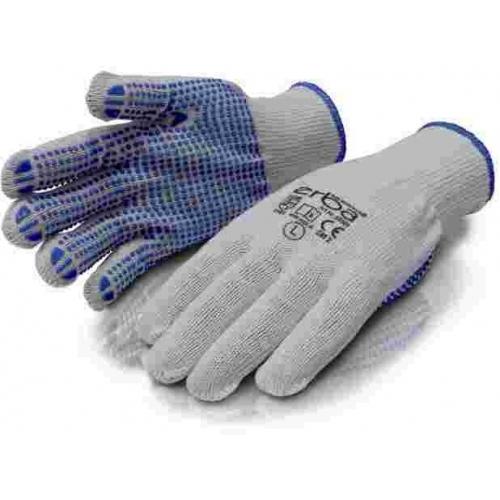 ERBAPracovní rukavice L polyesterové s PVC nopy ER-55084