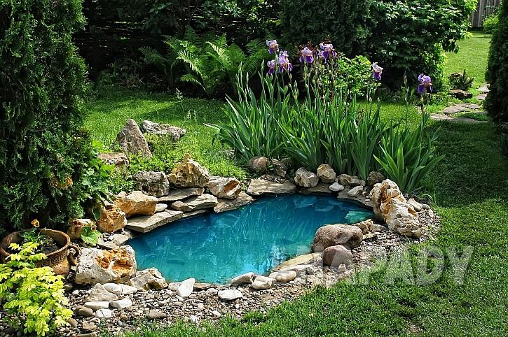 zahrada s rybníčkem