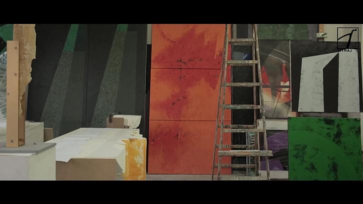 Olejová malba jako šablona pro představu