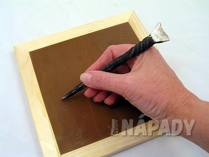 Mazací tabulka z vosku: začněte psát