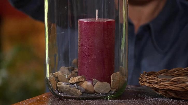 Svíce ve lahvi