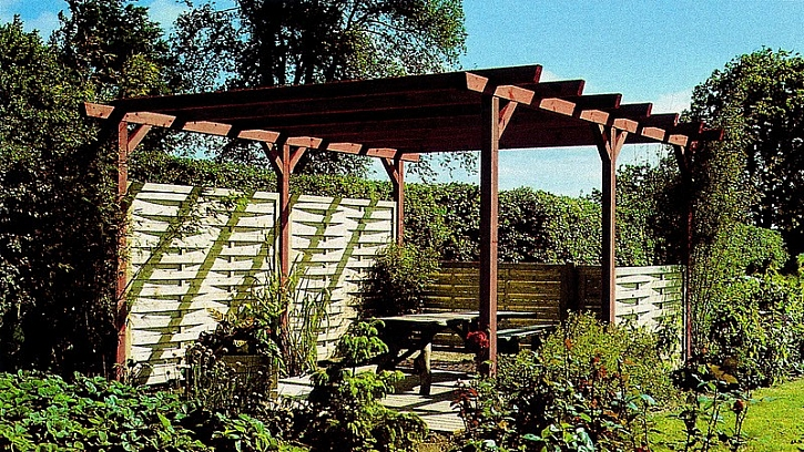 Zahradní chatky, altány a pergoly