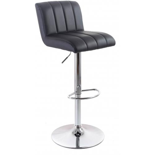 G21 Barová židle Malea koženková, prošívaná černá