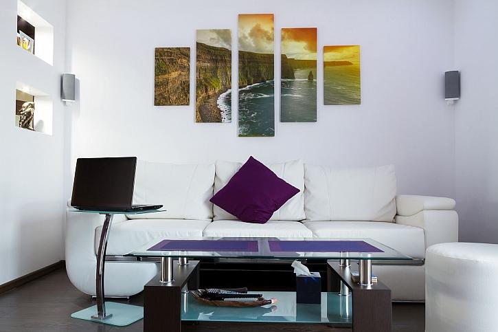 Na stěně nemusí viset jenom Olejová malba, ale také obraz z vlastních fotek (Zdroj: Depositphotos)