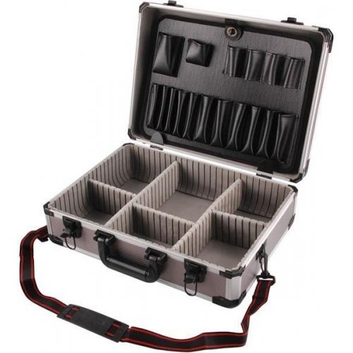 EXTOL CRAFT kufr na nářadí hlíníkový, 450x330x150mm, šedá barva