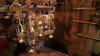Výroba závěsného lustru ze starého loukoťového kola