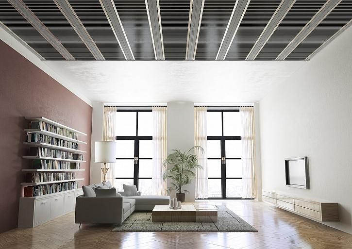 Podlahové topení s topným kabelem nepřesáhne výšku podlahy 2,5 cm.