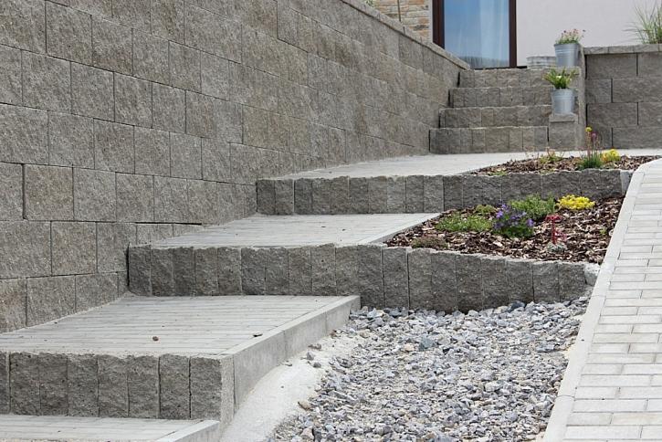 Vytvoření venkovních schodišť bez nutnosti zdění