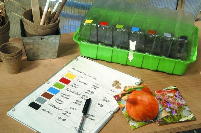 Pěstujte s přehledem díky barevnému značení výsevu
