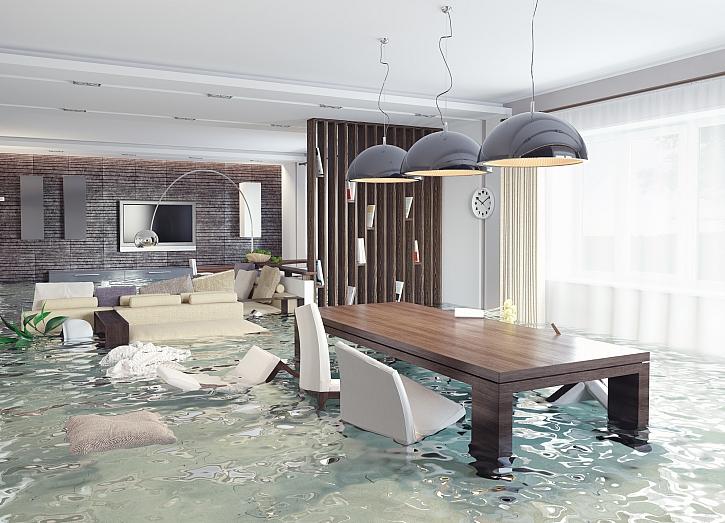 Vytopený byt