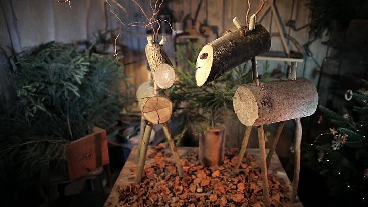 Veselý vánoční jelen