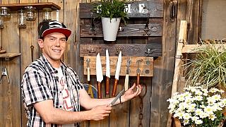 Magnetický držák na kuchyňské nože na chalupu