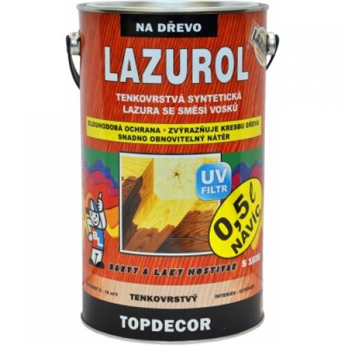 Lazurol Topdecor S1035 tenkovrstvá lazura na dřevo T022 palisandr, 4,5 l