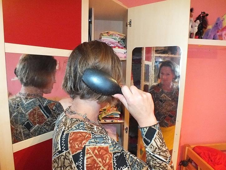 Zrcadlová folie na vnitřní straně dveří