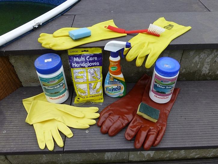 Chemicky odolné rukavice