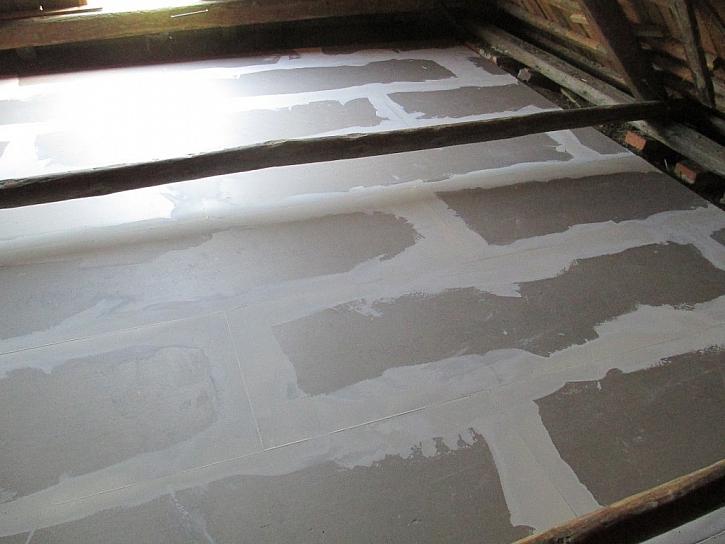 Dokončená suchá podlaha