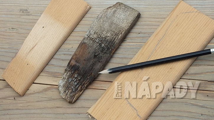 Zahradní lavice z borového dřeva s novou lazurou  5
