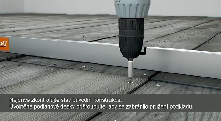 Pokládání podlahové voštiny