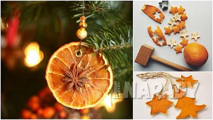 Vánoce svůní pomerančů: ozdoby na stromek