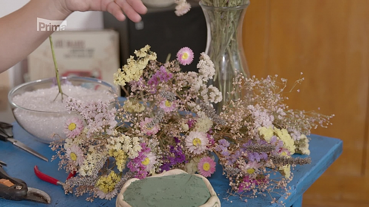 Sušené zahradní květiny