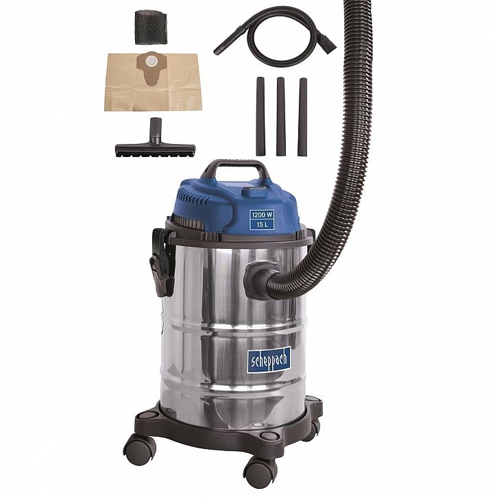 Průmyslový vysavač na suché/mokré vysávání 15 l