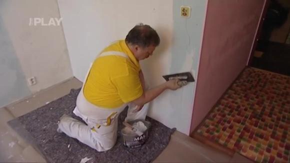Oprava stěn v místnosti