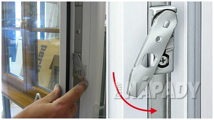 Rameno pojistky okenního křídla; pojistka proti špatnému otevření