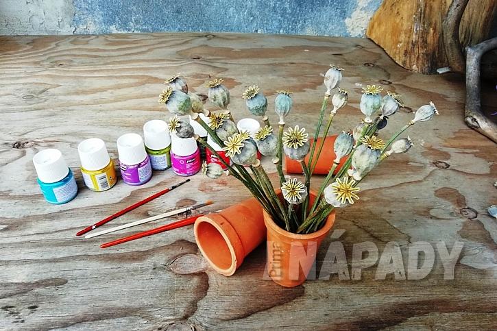 Letní dekorace z makovic: zastřihněte stonky