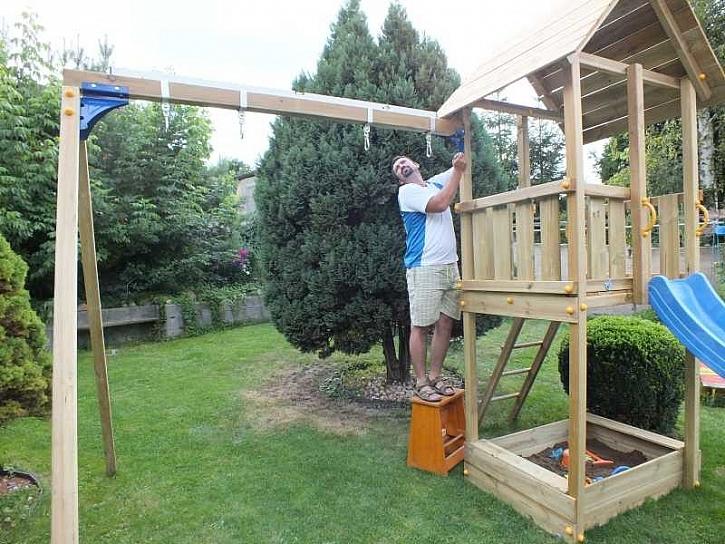 Montáž houpačkového modulu Blue Rabbit Swing Basic