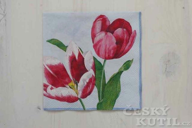 Tulipán není Fanfán aneb Dekupáž s tulipánem