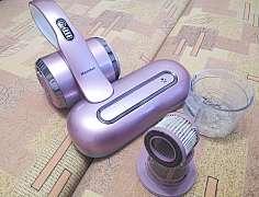 Zbavte matrace v posteli či pohovce nepříjemných roztočů a prachu, použijte ruční vysavač s UV lampou