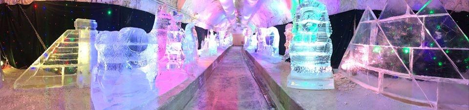 Ledové sochy v Plzni - Cesta kolem světa