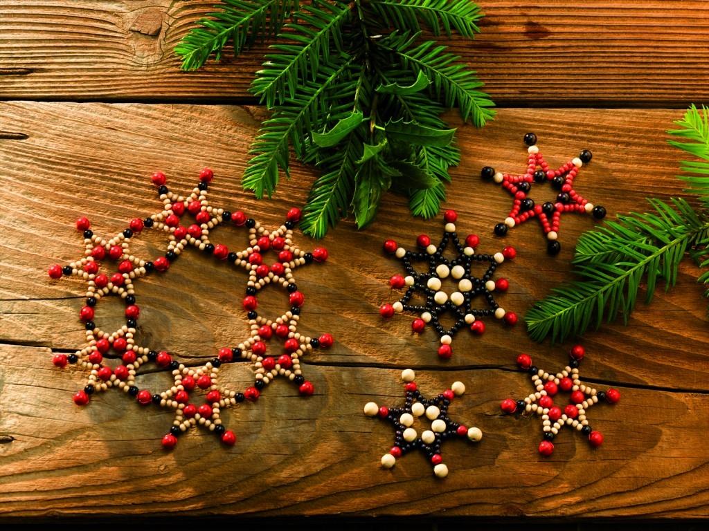 Rustikální dřevěné hvězdy