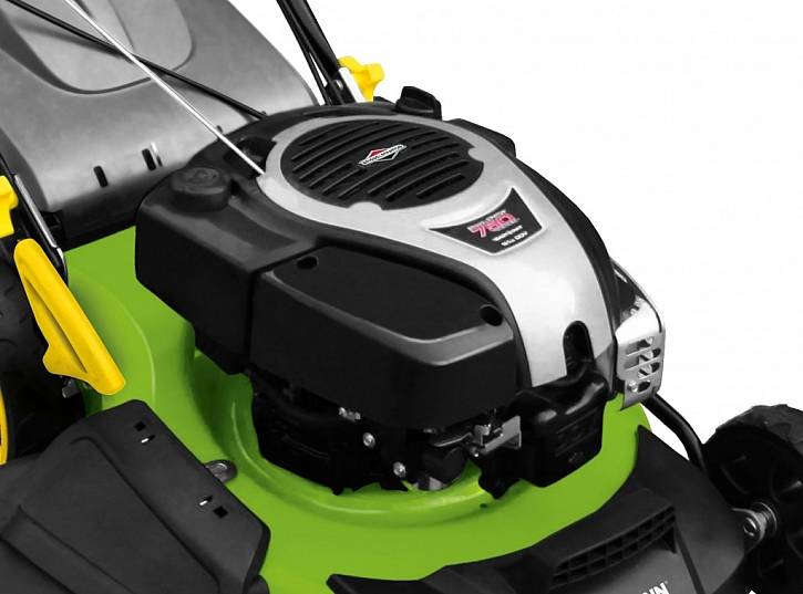 Benzínová sekačka FZR 4012- B je vybavena silnýma výkonným motorem Briggs & Stratton 750 DOV