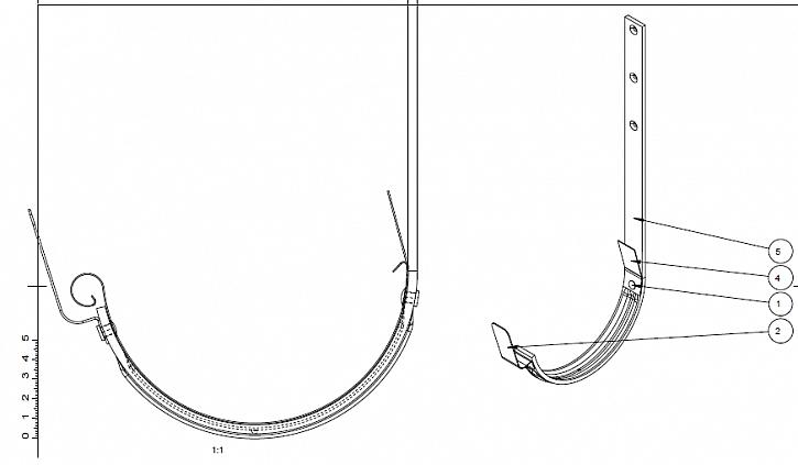 Inovovaný žlabový hák systému Lindab Rainline