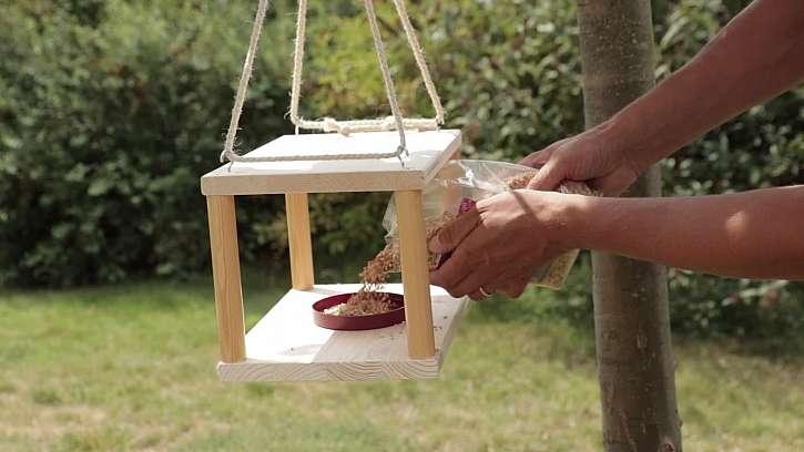 Pozvěte na svou zahradu užitečné ptactvo, vyrobte pro zpěváčky krmítko