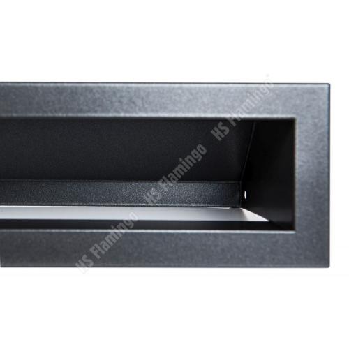 Krbová mřížka Otevřená 40x6cm černý mat