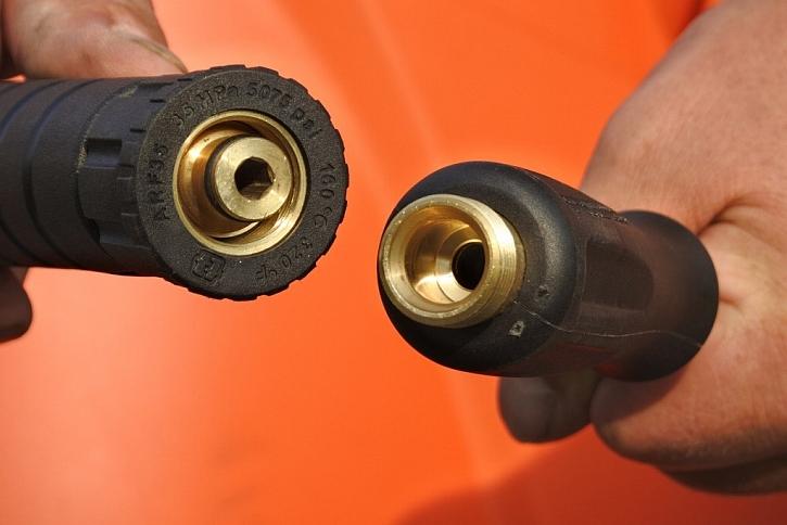Odolný materiál a spoje pistole i trysky