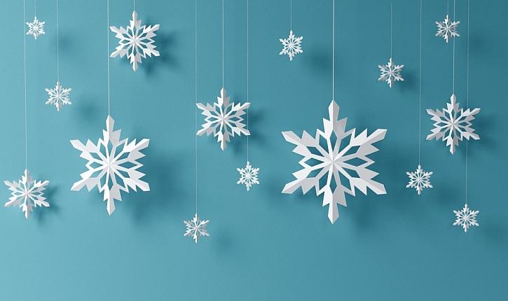 Papírové vločky můžete použít jako dekoraci po celou zimu